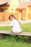Le lilla flickan Arkivfoton