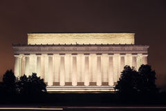 Le Lincoln Memorial dans le Washington DC Images libres de droits