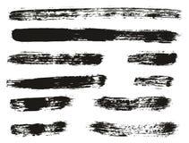 Le linee alto fondo del pennello di vettore dell'estratto del dettaglio hanno messo 58 Royalty Illustrazione gratis