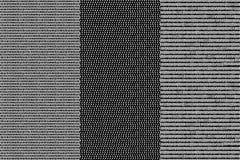 Le linee in bianco e nero semplici spina di pesce e modelli senza cuciture geometrici barrati di scarabocchio mettono, vector Immagine Stock Libera da Diritti