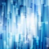 Le linee blu astratte sovrappongono il concetto brillante della tecnologia del fondo di moto di affari di strato illustrazione di stock