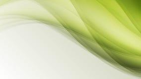 Le linee creative di eco della foglia verde dell'onda sottraggono il fondo Fotografia Stock Libera da Diritti