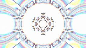 Le linee di colore fondo psichedelico tribale etnico disegnato di animazione del modello del caleidoscopio ornamentale avvolgono  archivi video