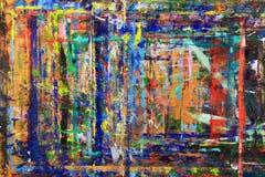Le linee ed i punti audaci e astratti di pittura sulla parete Immagine Stock Libera da Diritti