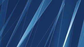 Le linee nette del poligon blu astratto si appannano la videoripresa variopinta di nuovo di qualità del fondo di animazione moto  stock footage