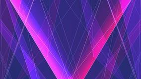 Le linee nette del poligon PORPORA ROSSO simmetrico astratto si appannano il moto dinamico della tecnologia di nuova qualità del  illustrazione vettoriale