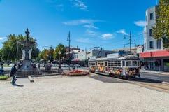 Le linee tranviarie di Bendigo regolano il viaggio lungo la Pall Mall in Bendigo immagini stock libere da diritti
