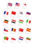 Le lingue inbandierano l'insieme illustrazione di stock