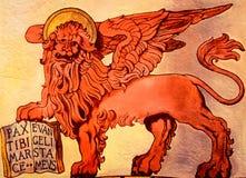 Le lion à ailes de la République de St Mark, Venise, Italie Photo libre de droits