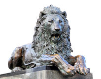 Le lion de sculpture Photo libre de droits