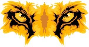 Le lion observe le dessin de mascotte illustration libre de droits