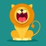 Le lion se repose et gronde illustration libre de droits