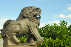 Le lion, temple de Taoist de Cebu Photo libre de droits
