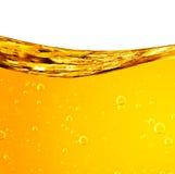 Le liquide coule jaune images stock