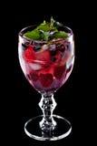 le liquide noir d'automnes de cocktail de fond a isolé la lumière du soleil Photographie stock libre de droits