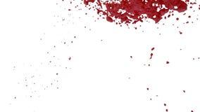 Le liquide rouge d'écoulement comme la peinture se déplace le mouvement lent 3d rendent le mouvement lent liquide de CG. avec l'a illustration de vecteur