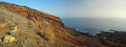 Le littoral de l'EL Hierro l'espagne image libre de droits
