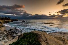 Le littoral de l'océan pacifique en Californie images libres de droits
