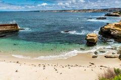 Le littoral de l'océan pacifique en Californie photographie stock libre de droits