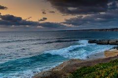 Le littoral de l'océan pacifique en Californie photographie stock