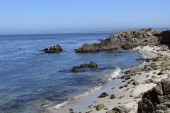 Le littoral de la Californie bascule le sable Photographie stock libre de droits