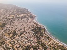 Le littoral de la Gambie de l'air image libre de droits