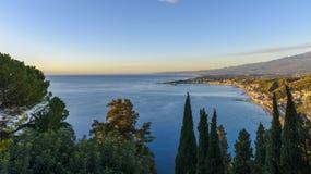 Le littoral de la Sicile Image stock