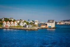 Le littoral de la ville d'Alesund Images libres de droits