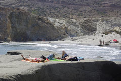 Le littoral sauvage de Cabo Gata, en Andalousie Image stock