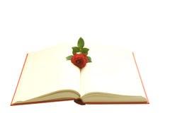 Le livre avec s'est levé Images stock