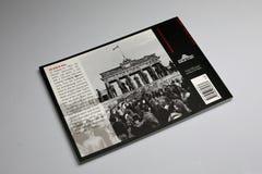 Le livre de Berlin Wall 1961-1989, couverture arrière photo stock