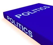 Le livre de la politique montre des livres concernant le gouvernement Photos libres de droits