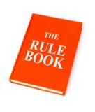 Le livre de règle photographie stock