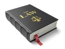 Le livre des lois Constitution d'isolement sur le fond blanc illustration stock