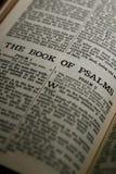 Le livre des psaumes Photographie stock libre de droits