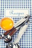 Le livre des recettes Photo libre de droits