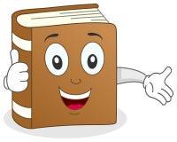Le livre drôle manie maladroitement vers le haut du caractère Images stock
