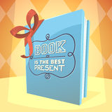 Le livre est le meilleur présent Image stock