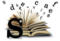 Le livre et les lettres Photos libres de droits