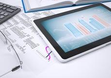 Le livre, la calculatrice, le papier et la tablette Image libre de droits