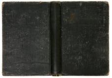 le livre noir de fond a affligé le vieux cru Photo libre de droits