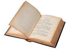le livre vieux s'ouvrent Photo libre de droits