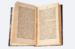 le livre vieux s'ouvrent Images libres de droits