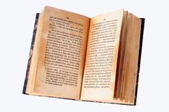 le livre vieux s'ouvrent Image stock