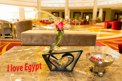 Le lobby abstrait d'hôtel à l'hôtel de luxe chez l'Egypte Photographie stock