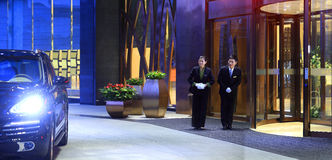 Le lobby d'hôtel Images libres de droits