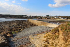 Le Loch harbor in Primelin at low tide Royalty Free Stock Photo