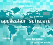 Le logiciel d'application montre les logiciels Apps et le logiciel public Photos libres de droits