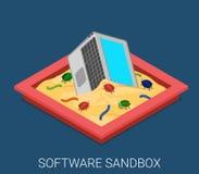 Le logiciel de bureau corrigent la technologie plate de vecteur de développement Photographie stock