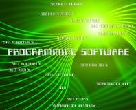 Le logiciel de programmation signifie le programmeur And Development des textes Images stock